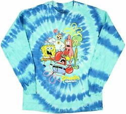Nickelodeon SpongeBob SquarePants Under The Sea Tie Dye Long Sleeve T Shirt New $19.99