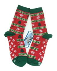 2 Pairs Women Novelty Fun Cotton Crew Socks Colorful Christmas Tree Red $10.99