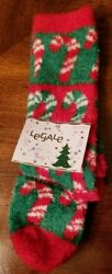 CHRISTMAS WOMEN SOCKS LEGALE CANDY CANE DESIGN RED GREEN SIZE 4 10 $6.00