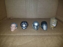 Hasbro 1 12 Star Wars Black Series Head Lot A 6inch Bossk Tarking 4 LOM Mando $25.00