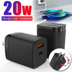 Fast PD Wall Charger Quick Type C Foldable Adapter For iPhone 12 Pro Max12 Mini $14.95