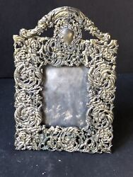 RARE Vintage METAL Silver Victorian Antique PICTURE Frame STUNNING ORNATE $64.95