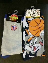 2x Pairs of Looney Tunes Space Jam Themed Novelty Socks Men#x27;s Size 6 12 $9.00