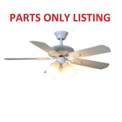 Hampton Bay Glendale 42quot; Ceiling Fan with Light Kit White PARTS ONLY $9.99