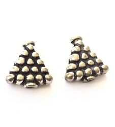 2 Sterling Silver Bead Fine Fancy decor Triangle Bead caps wholesale prices $9.90
