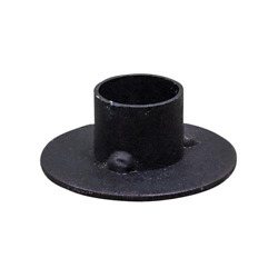 Country Primitive Farmhouse Black Round SET OF 2 Taper Candle Holder FREE SHIP $9.95