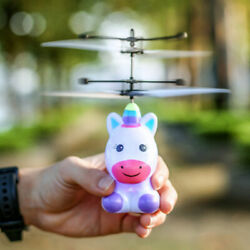 Magic Flying Unicorn Induction Colorful LED RC Helicopter Toy Gifts for Kids $10.21