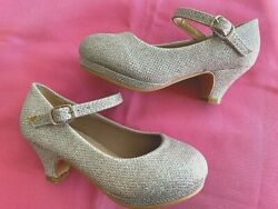 SILVER HEEL PARTY GIRLS SANDALS SIZES: 910 $7.99
