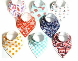 Natural Organic Cotton Unisex Baby Bandana Bibs 8 Pack New in Package $9.99