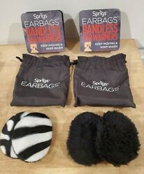 Sprigs Earbags Lot of 2 Bandless Ear Warmers Thinsulate Flex Insulation Medium $18.99