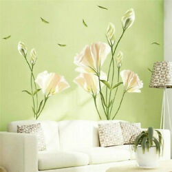 Wall Stickers Large Lily Flower Decals Nursery Home Stickers Decor Art Murals C $17.06
