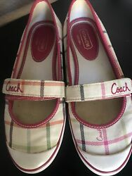 """Coach Sneakers """"rare"""" Type Mary Jane Colorful Size 6.5 $15.50"""