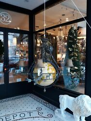 Magnificent Maitland Smith Globe Chandelier Large Bronze and Iron $6500.00