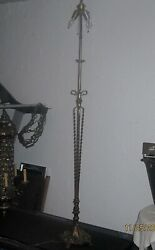 Antique Floor Lamp Vintage Cast Iron No Lamp Shade $245.00