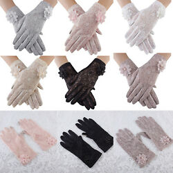 Bridal Lace Gloves Wedding Tea Party Gothic Opera Gloves Costumes Pageant Dance $8.54