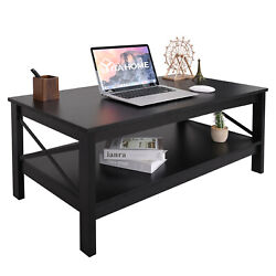 YITAHOME Modern Coffee Table Shelf Dining Side Table Living Room Home Office $96.04