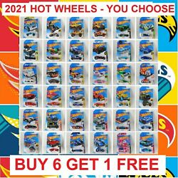 2021 Hot Wheels Cars Main Line Series Newest Cases You Pick Brand New Hot Wheels $1.95