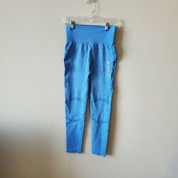 Jed North Womens Size Medium Large Athletic Workout Leggings Blue $19.97