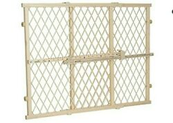 Evenflo Position and Lock Tall Pressure Mount Wood Gate W 31quot; 50quot; H 32quot; Tan $40.00