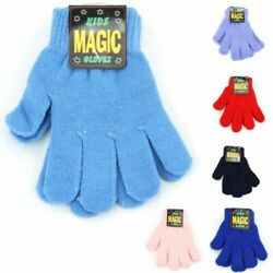 Children Magic Gloves Kids New Stretchy Grow Mitten Ski Winter Snow $20.36