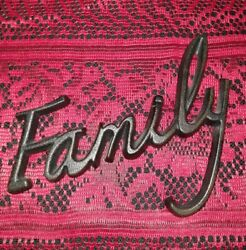 Vintage Rustic Cast Iron Word Sign FAMILY Wall Art Sculpture Gift $28.50