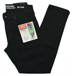 Signature By Levi Strauss #10395 NEW Men#x27;s Modern Fit Stretch S37 Slim Jeans $20.99