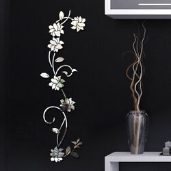 3D DIY Flower Shaped Wall Stickers Acrylic Mural Modern Stickers Decor Decals^ C $11.69