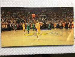 LAKER KOBE BRYANT AUTOGRAPHED LTD. 12 OF 24 OIL PAINTING CELEBRATING LAST RING $18183.18