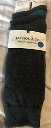 Larsson amp; CO Spirit Of Scandinavia Cotton Rich Mens 7 12 Socks 3 Pair Gray $12.40