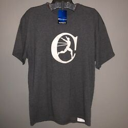 Champion Large Gray Basic T Shirt With White Suede Embossed C Logo NWT $15.00
