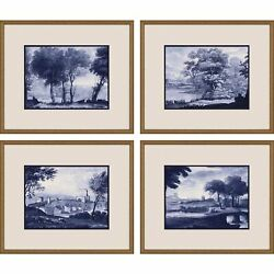 Paragon Scenic Contemporary Set Of 4 Pastoral Toile Wall Art 13061 $480.00