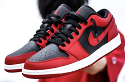AIR JORDAN 1 LOW REVERSE BRED 553558 606 Mens FAST SHIPPING IN HAND SHIPS NOW $125.00