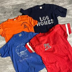 80s T Shirt Bundle Lot 4 Size Small Large Champion Sportswear OSU 1980s $84.99
