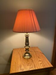 Stiffel Brass Table Lamp with Shade $125.00