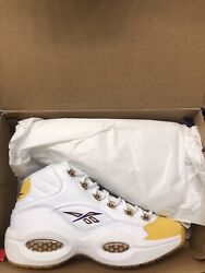 Reebok Question Mid Yellow Toe. SIZE 8.5 US MENS. In Hand. $175.00