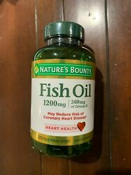 Nature#x27;s Bounty Heart Health Fish Oil Rapid Release Softgels 1200 mg 120 Ct $10.99