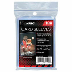 100 ULTRA PRO Standard Size Soft Penny Sleeves Sports Trading Gaming Cards $2.29