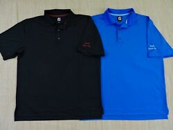 FOOTJOY GOLF NWOT Lot 2 Mens Sz Large Blue Black S S Naples FL Polo Shirts $35.99