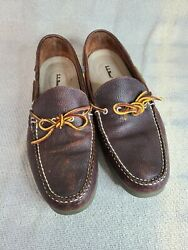 LL Bean 130448 Camp Mocs Moccasins Dock Boat Shoes Brown Loafers Mens 13D $53.00