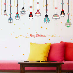 1PC Non toxic Decorative Romovable Christmas Chandelier Wall Stickers Wallpaper $6.69
