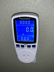 Power Consumption Energy Voltage Amps Electricity Usage Monitor Watt Meter $24.95