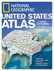National Geographic U.S. Atlas For Young Explorers 3rd Edition Nat ACCEPTABLE $5.04