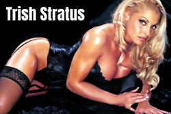 Trish Stratus Blond Sexy Wrestling Diva WWE Art Wall Room Poster POSTER 24x36 $18.99