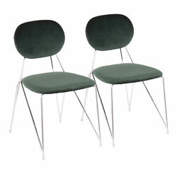 Lumisource Gwen Contemporary Set Of 2 Chair CH GWEN GN2 $360.95