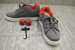 Heelys Vopel HE100191 Wheeled Casual Skate Shoes Big Boys Size 5 Gray $37.74