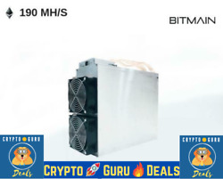 CryptoGuruDeals❗🙏 USED Bitmain Antminer E3 190MH s with PSU USA SELLER $950.00