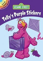 SESAME STREET TELLY#x27;S PURPLE STICKERS 27 stickers The Count grapes much more $2.95