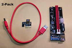 PCI E GPU Riser Adapter Card 1X to 16X USB 3.0 Extension Cable 60cm for Mining $13.89