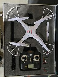 Syma X5C 2.4Ghz RC Quadcopter Drone with Camera w Batteries Props Case $19.99