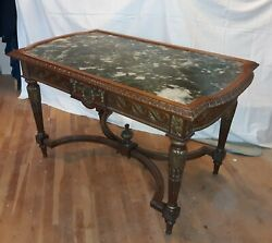 Antique French Marble Top Victorian Table $3500.00